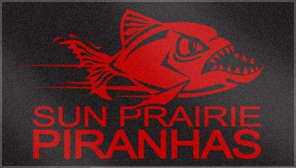 Custom Woven Swim Team Towel for Sky Prairie Piranhas