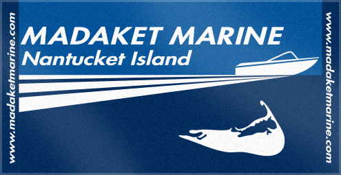 Custom Woven Beach Logo Towel for Madaket Marine