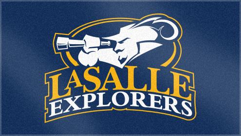 Custom Woven Logo Towel for LaSalle University