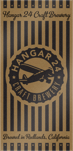 Custom Woven Beach logo Towels for Hangar 24 Craft Brewery