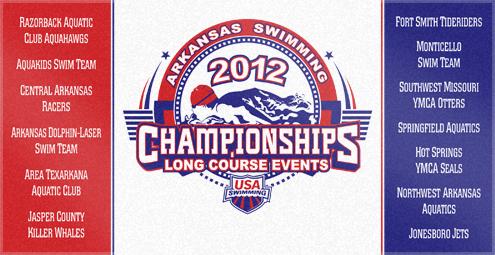 Custom Woven Swimming Towel for Arkansas State Championships