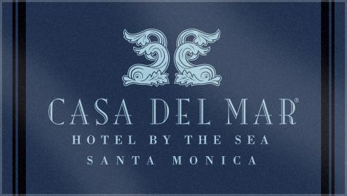 Custom Woven Beach Towel for Casa Del Mar