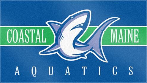 Custom Woven Swim Team Towels for Coastal Maine Aquatics