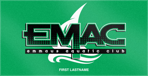 Custom Woven Swim Team Towels for EMAC Aquatic CLub