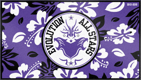 Custom Woven Beach towels for Evolution All Stars Cheerleading Gym