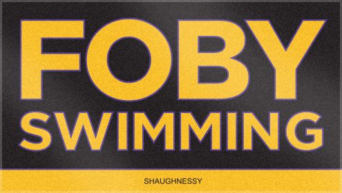 Custom Woven Swim Team Towels for FOBY Swimming