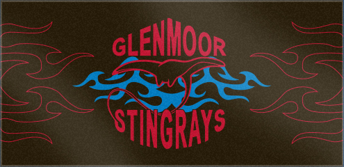 Custom Woven Swim Team Towels for Glenmoor Stingrays