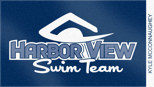 Custom Woven Swim Team Towel for Harbor View