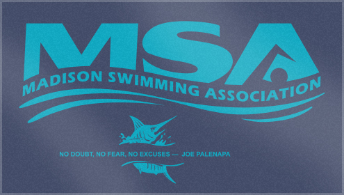 Custom Woven Swim Team Towels for Madison Swimming Association