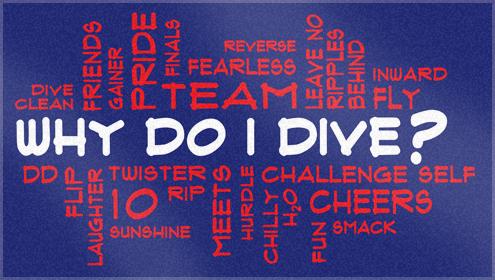 Custom Woven Dive team towels for Middleton diving