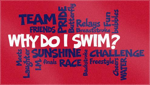 Custom Woven Swim team towels for Middleton Swimming