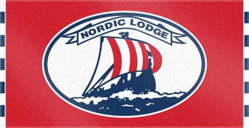 Custom Woven Logo Towel for Nordic Lodge