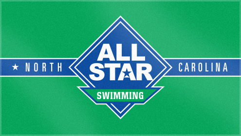 Custom Woven Beach Towel for North Carolina Allstar swimming
