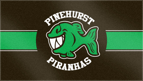 Custom Woven Swim Team Towels for Pinehurst Piranhas