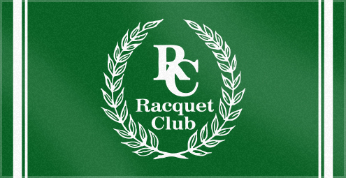 Custom Woven Logo Towel For the Racquet Club
