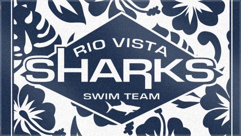Custom Woven Swim Team Towel for Rio Vista Sharks