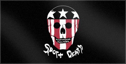 Custom Woven Beach Towel with Sport Death Logo
