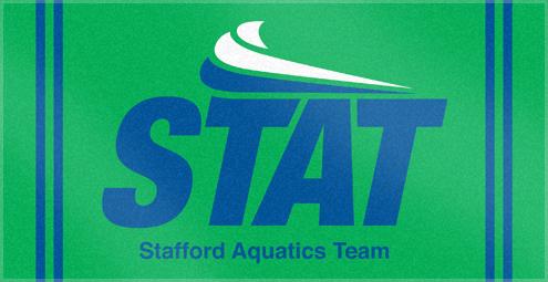 Custom Woven Swim team Towel for STAT