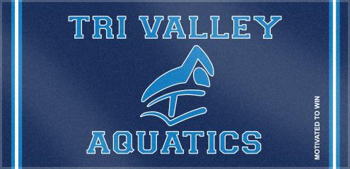 Custom Woven Swim Team towels for Tri Valley Aquatics