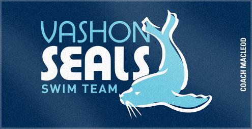 Custom Woven Swim Team Logo Towel with Personalization