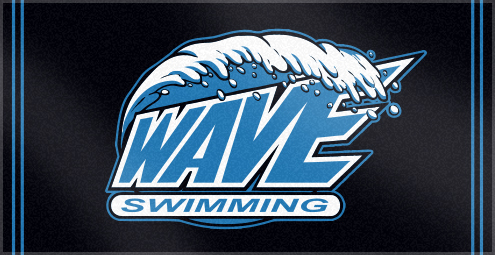 Custom Woven Logo Swim Team Towels for Wave Swimming
