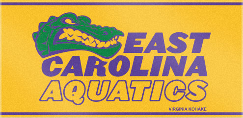 East Carolina Aquatics definitely gave the competition something to talk about with these custom woven swim team towels! Send us your logo and have us create your very own custom swim team towel.