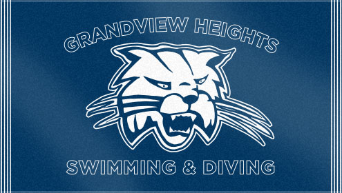 The Grandview Heights' custom woven swim team towels feature two of Custom Woven Towels' color options. These custom swim team towels look and feel great with our velour finishing!