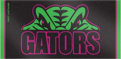 These custom woven swim team towels were created for the Grosse Pointe Gators. Custom Woven Towels helps swim teams create a custom swim team towel, that everyone is sure to love!