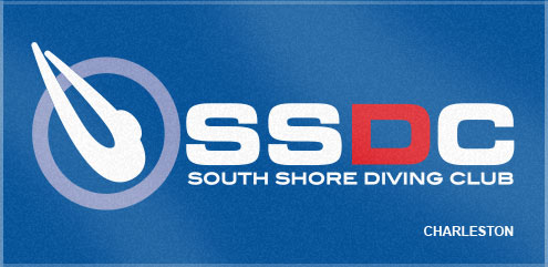Custom Woven Towels offers several color options for our custom woven team towels! South Shore Diving Club chose classic colors for their custom swim team towel.